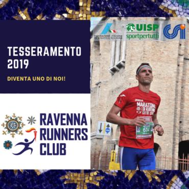 (Italiano) TESSERAMENTO RAVENNA RUNNERS CLUB 2019: SCEGLI FRA FIDAL, UISP E CSI