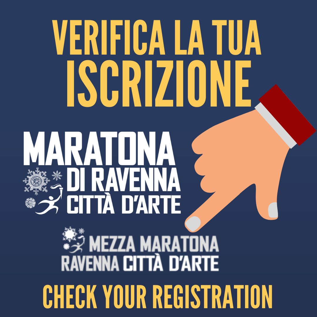 CHECK YOUR REGISTRATION IN MARATHON AND HALF MARATHON OF RAVENNA, WITH TDS IT'S EASY!