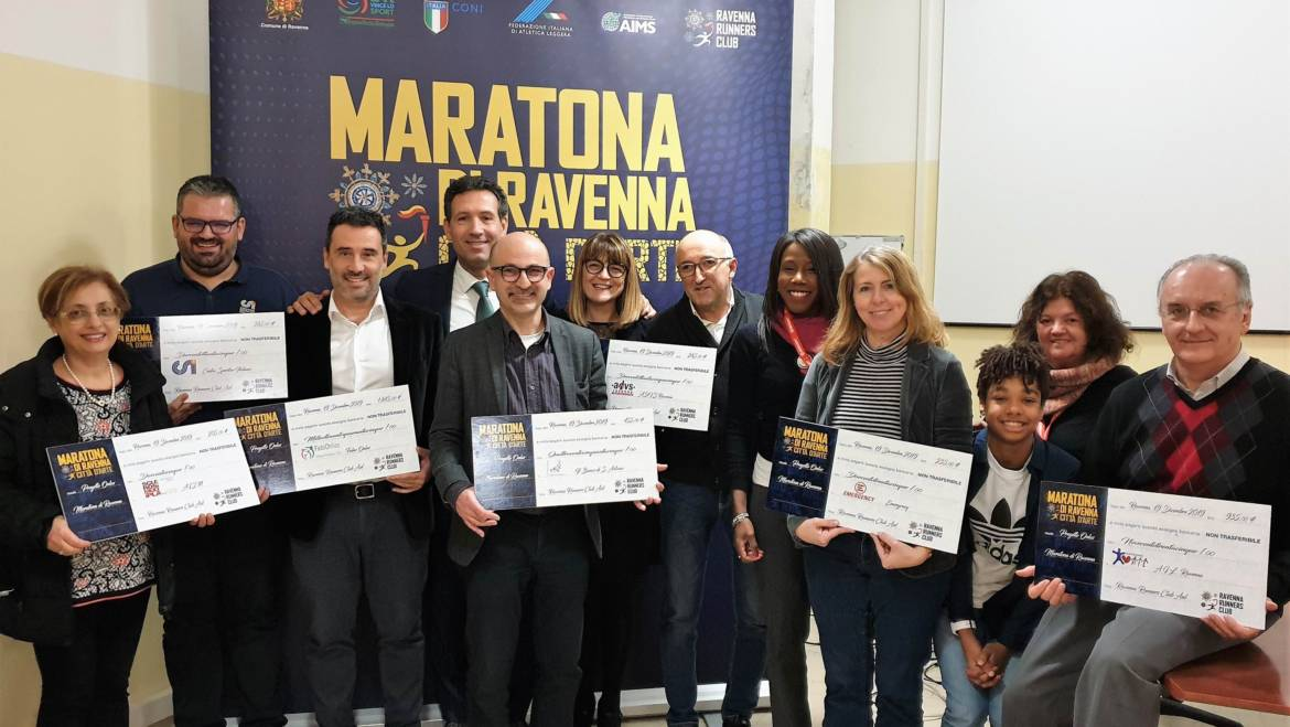 DELIVERED THE CHECKS TO THE ONLUS OF THE CHARITY PROJECT OF RAVENNA MARATHON