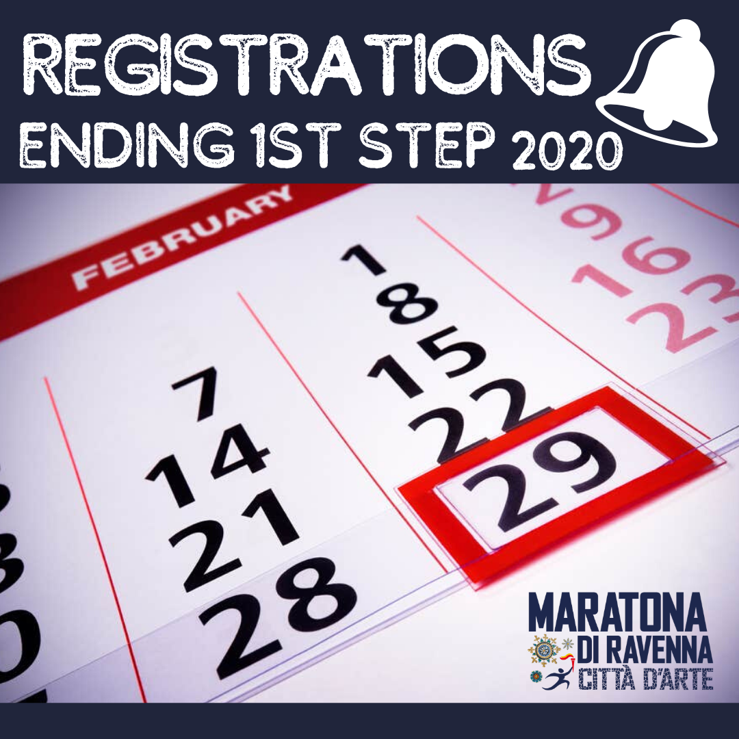THE FIRST STEP REGISTRATION IS EXPIRING! CHOOSE EMOTIONS NOW, CHOOSE RAVENNA MARATHON