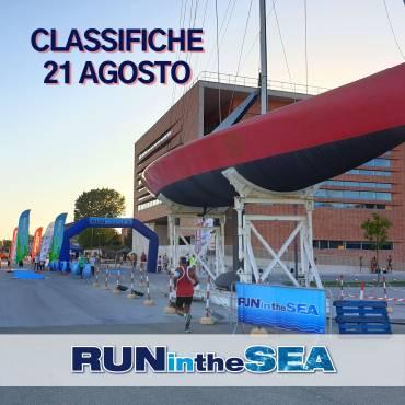 """""""Run in the Sea"""", le classifiche della gara del 21 Agosto"""