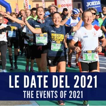 LE DATE DEGLI EVENTI ORGANIZZATI DA RAVENNA RUNNERS CLUB NEL 2021