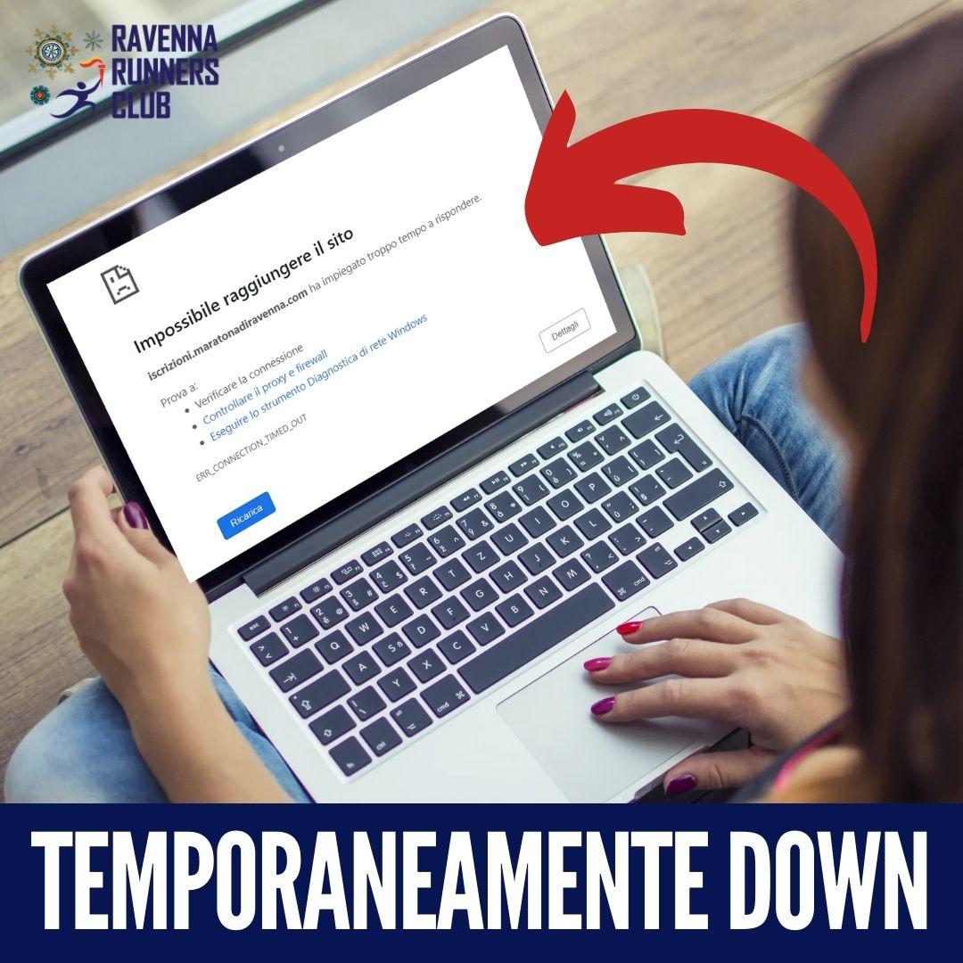 PAGINE WEB DOWN PER PROBLEMI ALLA RETE SERVER INTERNAZIONALE