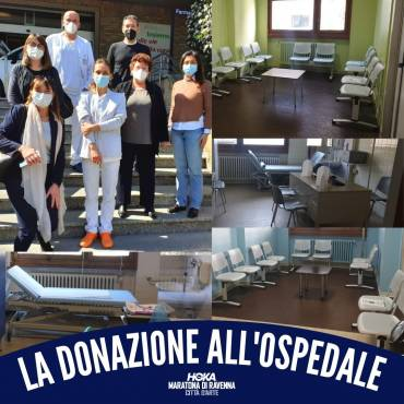 INSTALLED THE FURNITURE PURCHASED WITH THE DONATION TO THE S. MARIA DELLE CROCI HOSPITAL IN RAVENNA