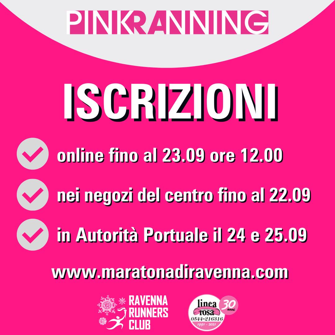 (Italiano) Iscrizioni Pink RAnning, ampliate online. Venerdì e sabato in Darsena